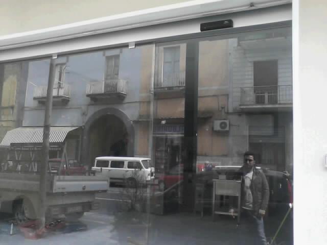 Porta automatica Ditec Rex Pizzeria A Pusteggia Frattamaggiore Napoli